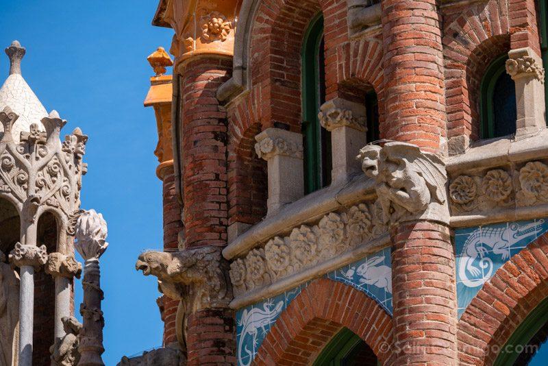 Hospital Santa Creu Sant Pau Modernista Gargolas