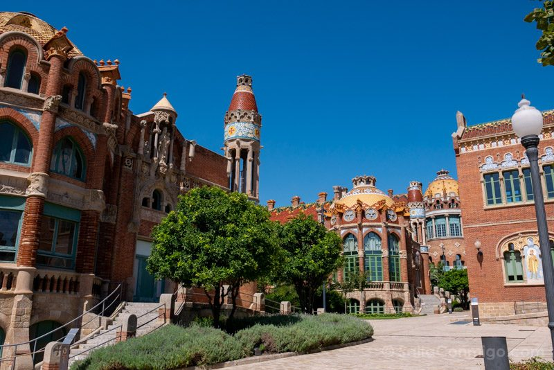 Hospital Santa Creu Sant Pau Modernista Jardin
