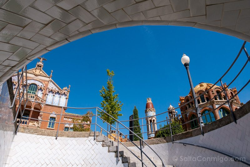 Hospital Santa Creu Sant Pau Modernista Salida Tunel