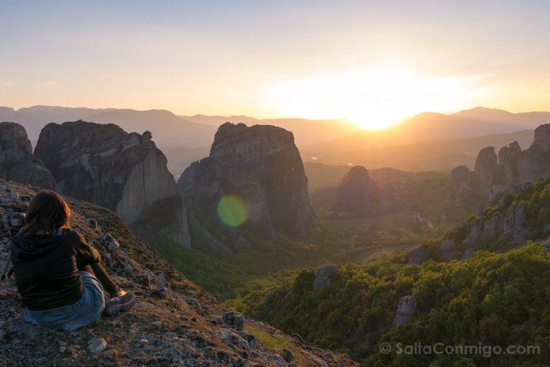Momentos Viaje Meteora Atardecer