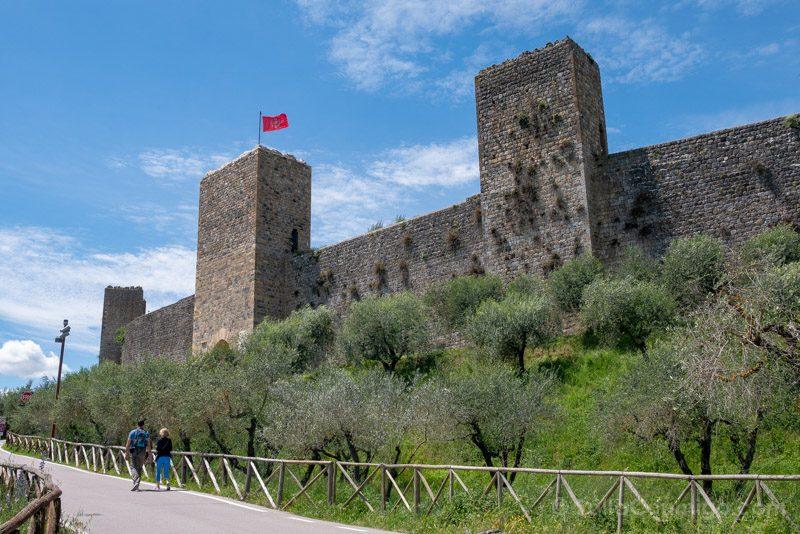 Pueblos Toscana Monteriggione Muralla