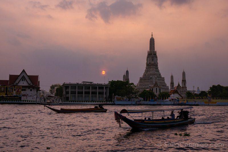 Que Ver En Bangkok Atardecer Wat Arun