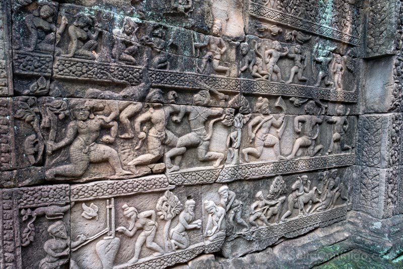 Que Ver en Angkor Thom Baphuon Relieves