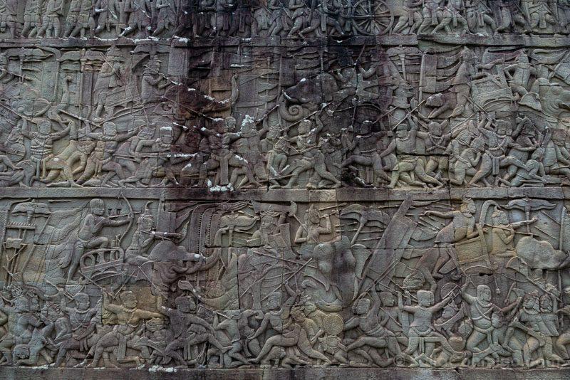 Que Ver en Angkor Thom Bayon Bajorrelieves