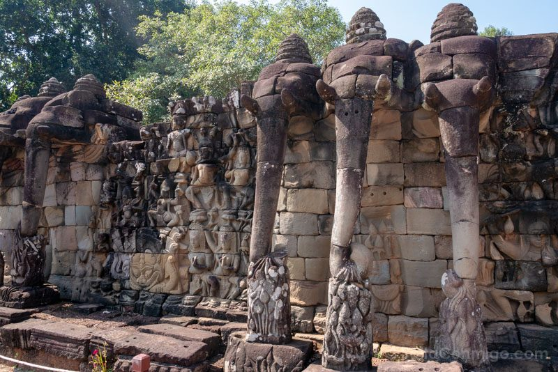 Que Ver en Angkor Thom Terraza Elefantes