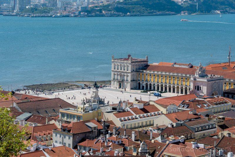 Tranvia 28 Lisboa Castelo Sao Jorge Praca Comercio