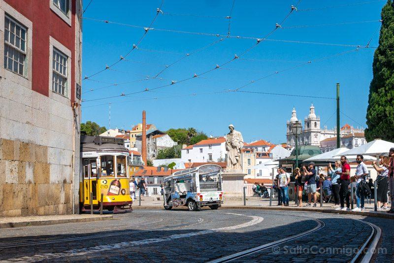 Tranvia 28 Lisboa Mirador Santa Luzia
