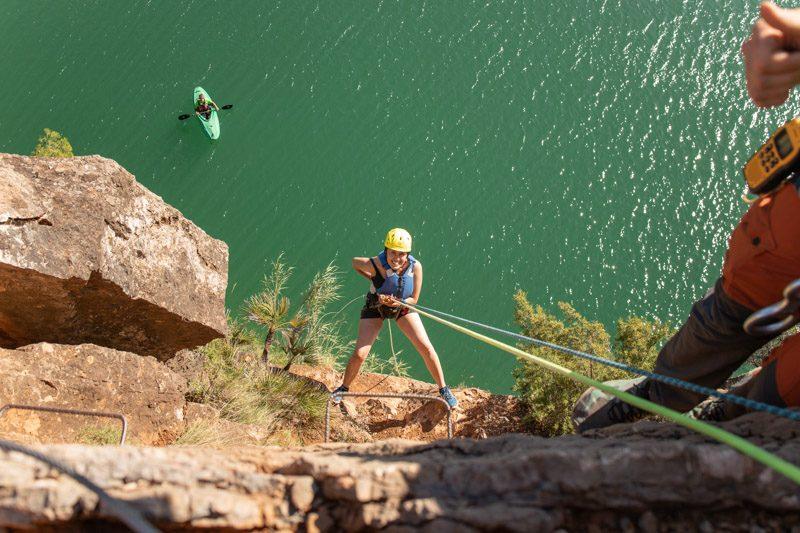 Turismo Activo en Castellon Embalse Alcora Multiaventura Rapel
