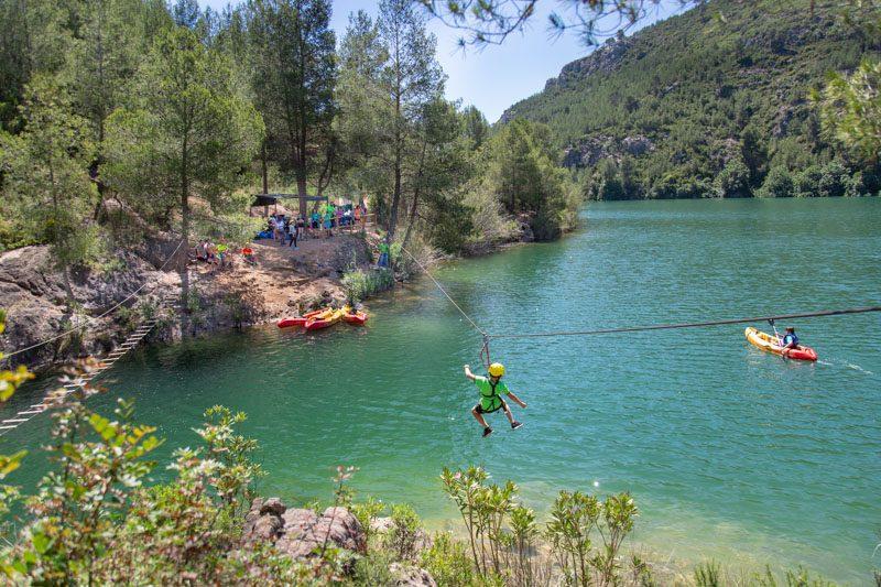 Turismo Activo en Castellon Embalse Alcora Multiaventura Tirolina