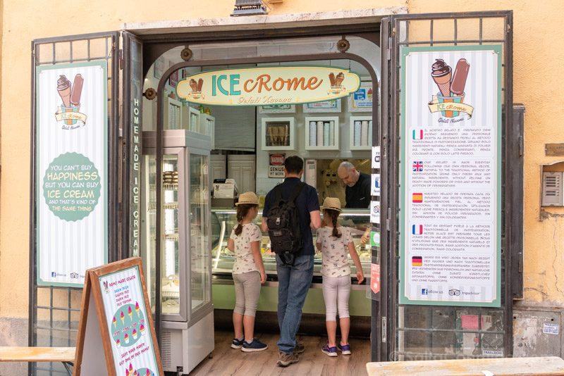 Heladerias de Roma ICE cRome Calle