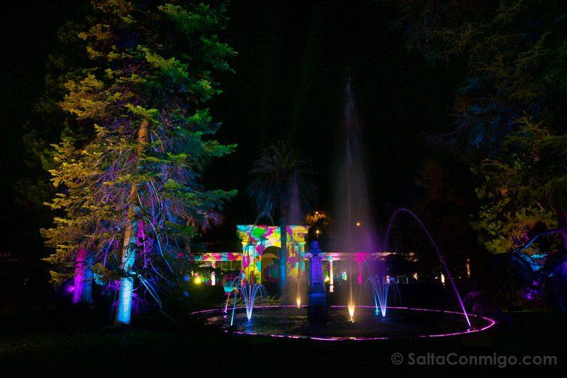 Luces Navidad Jardin Botanico Fuente