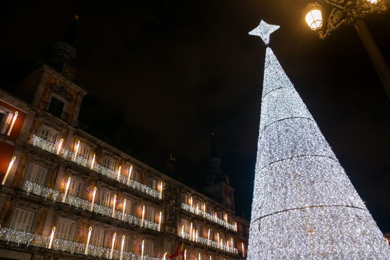 Navidad Madrid Arbol Plaza Mayor