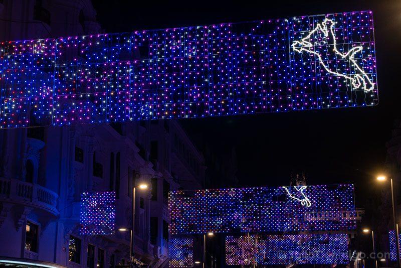 Navidad Madrid Luces Gato