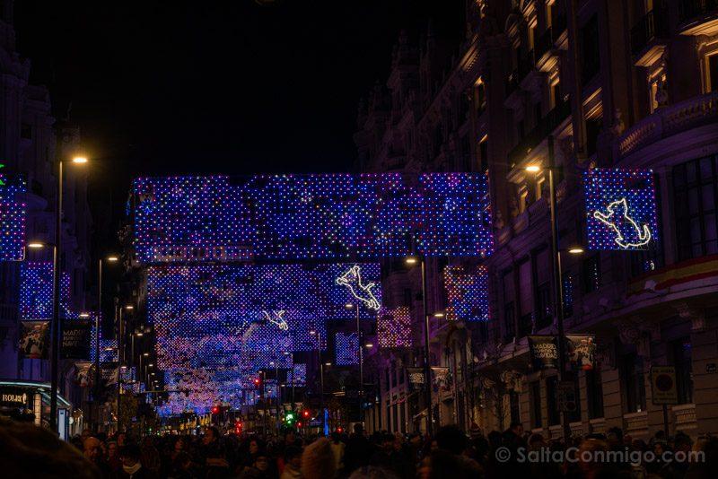 Navidad Madrid Luces Gran Via Alcala