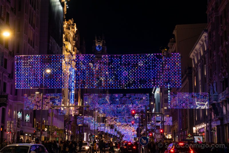 Navidad Madrid Luces Gran Via
