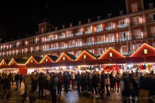 Navidad Madrid Mercadillo Plaza Mayor