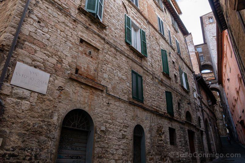 Calle del casco histórico, el lugar que tienes que ver en Perugia obligatoriamente