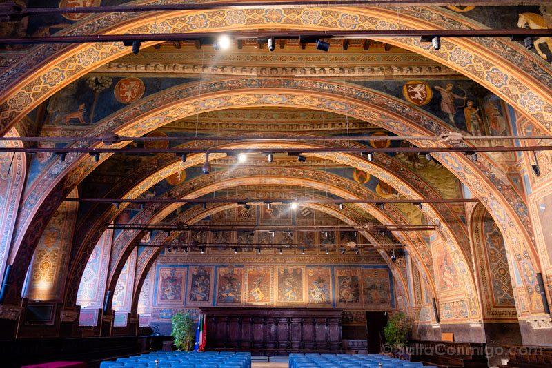 Sala dei Notari en el Palazzo dei Priori de Perugia