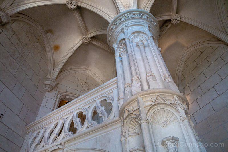 La escalera de honor del castillo de Chaumont-sur-Loire