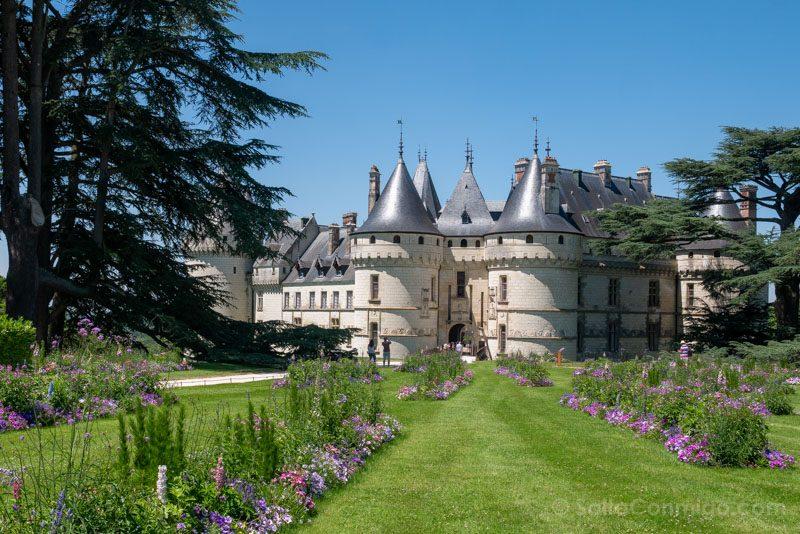La vista del castillo de Chaumont-sur-Loire desde el parque histórico