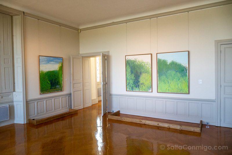 Salas de exposiciones de la planta alta del castillo