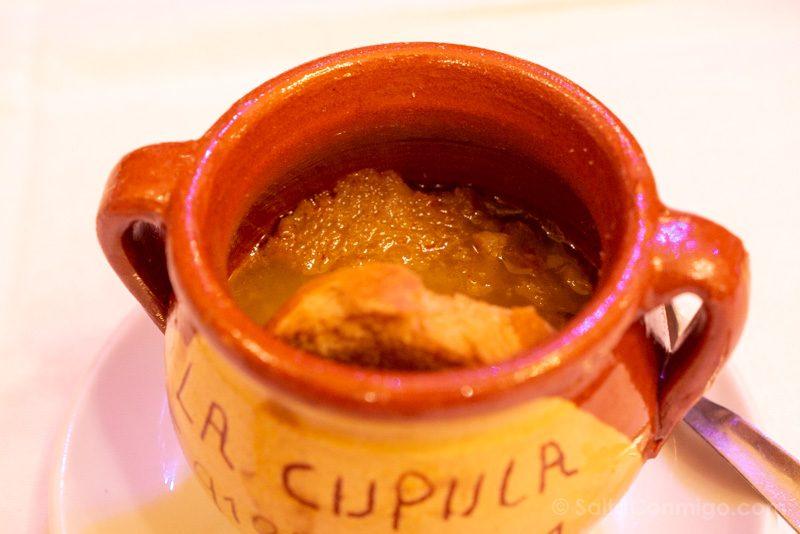 Donde Comer en Alcala de Henares La Cupula Sopa Ajo