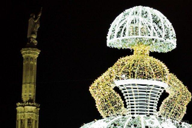 Navidad Madrid 2020 Menina Plaza de Colon Noche