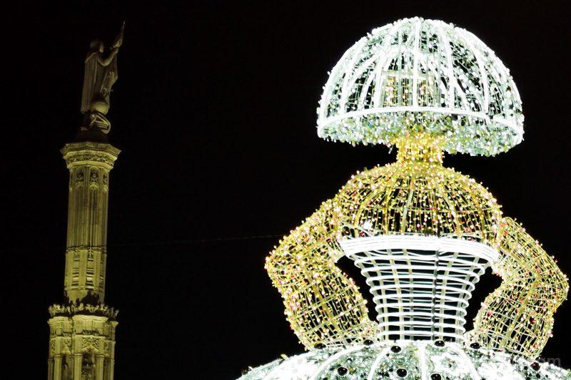La Menina iluminada de la plaza de Colón, incorporación luminosa a la Navidad en Madrid de 2020