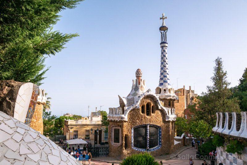 Park Guell Barcelona Casa Guarda Cruz Gaudi