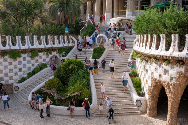 Park Guell Barcelona Escalinata Dragon