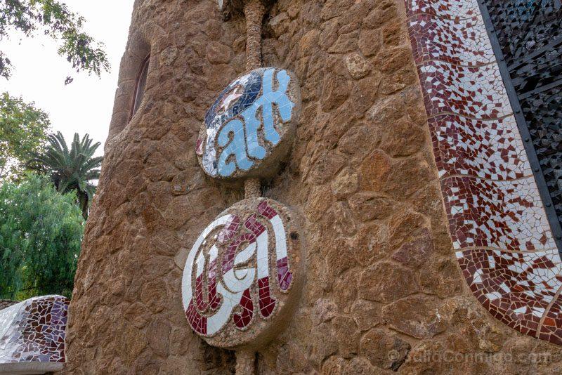 Park Guell Barcelona Letras