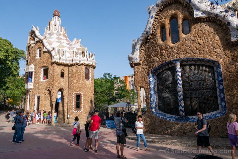 Park Guell Barcelona Pabellones Entrada