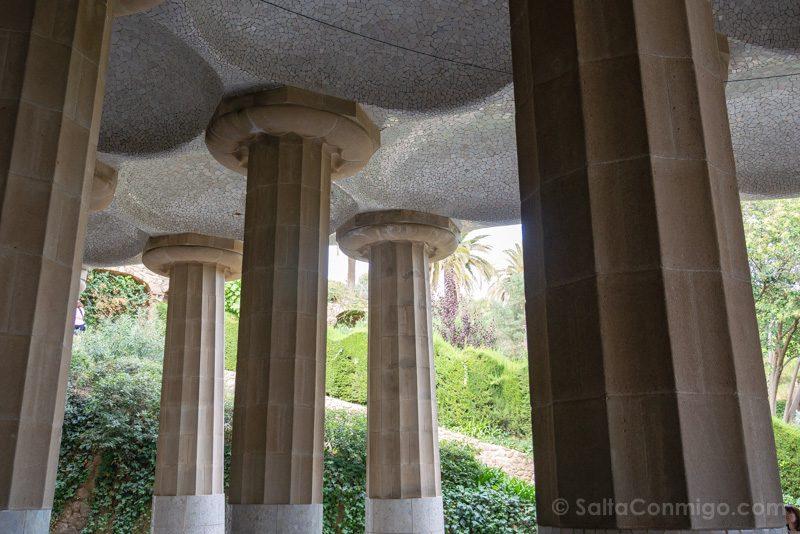 Park Guell Barcelona Sala Hipostila Columnas