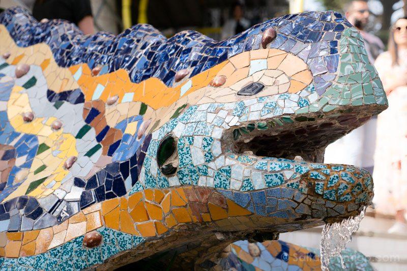Park Guell Barcelona Salamandra Detalle