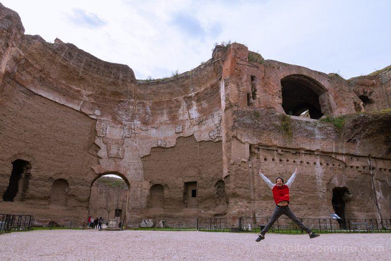 Termas De Caracalla Roma Edificio Principal Gimnasio Occidental Salto