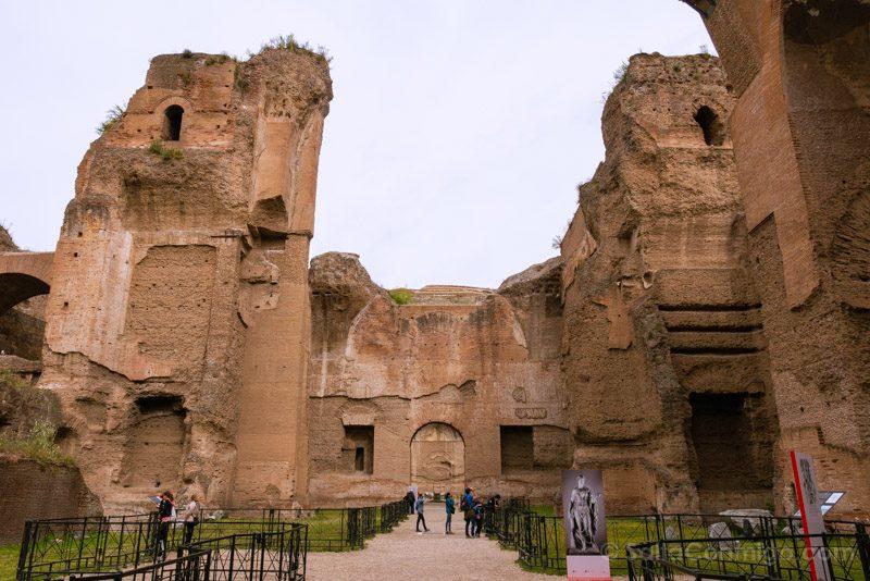 Termas De Caracalla Roma Edificio Principal Saltas Interiores Frigidarium