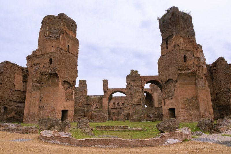 Termas De Caracalla Roma Edificio Principal Vista Trasera