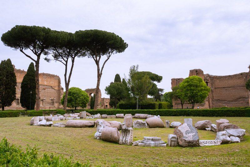 Termas De Caracalla Roma Michelangelo Pistoletto Terzo Paradiso