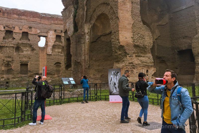 Termas De Caracalla Roma Visor Realidad Aumentada