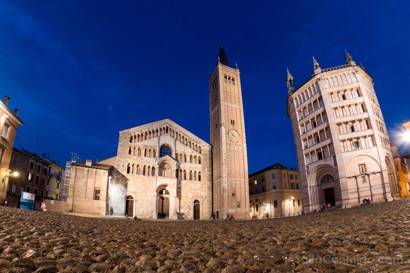 Bolonia Alrededores Parma Piazza Duomo Hora Azul