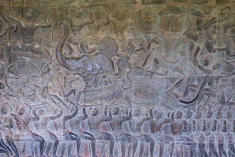 Que Ver En Angkor Wat Bajorrelieves Batalla Kurukshetra