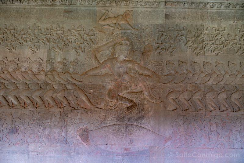Que Ver En Angkor Wat Bajorrelieves Oceano Leche