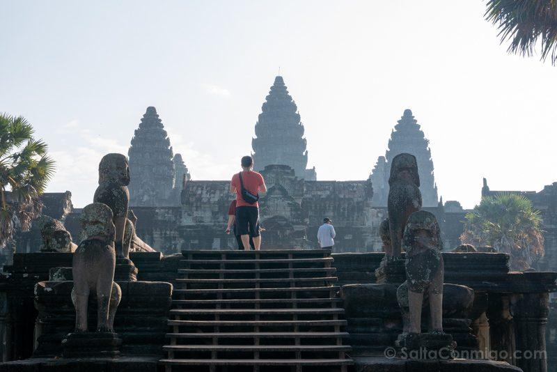 Que Ver En Angkor Wat Entrada Oeste Templo Central