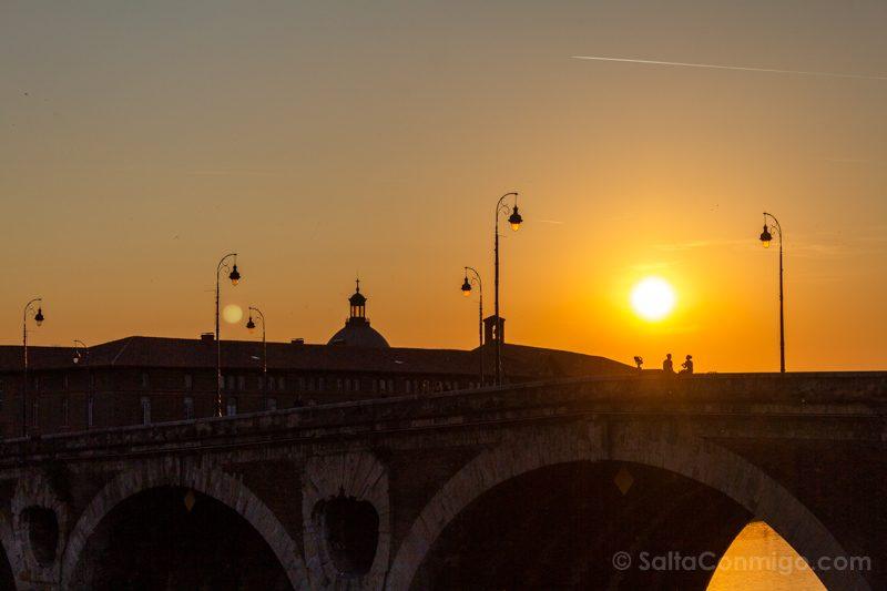 Que Ver En Toulouse Atardecer Pont-Neuf