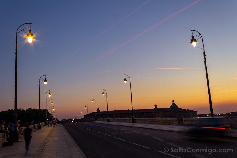 Que Ver En Toulouse Atardecer En Pont-Neuf