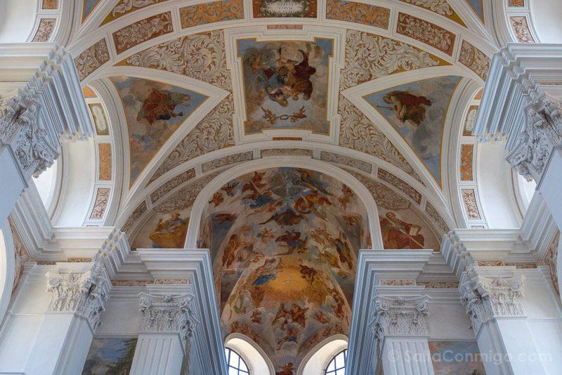Abadia Krzeszów Polonia Iglesia San Jose Fresco Techo