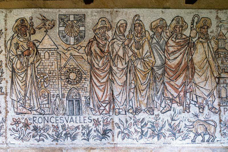 Monasterio San Juan Poio Claustro Cruceiro Mosaico Roncesvalles
