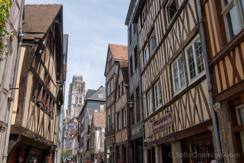 Que Ver En Rouen Calle Casas Entramado Madera