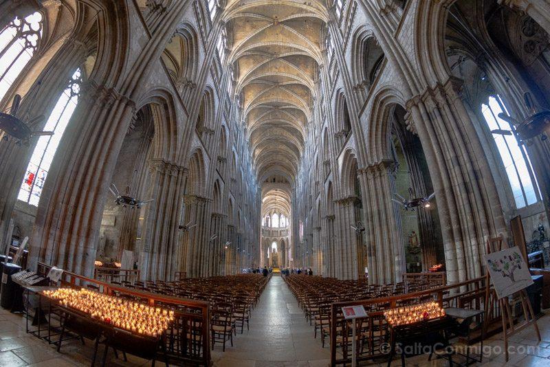 Que Ver En Rouen Catedral Nave Interior