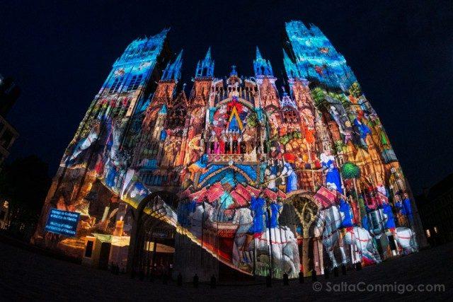Que Ver En Rouen Catedral Video Mapping